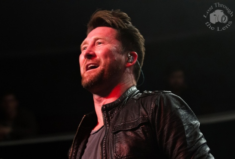 Stephen Christian of Anberlin gazes in amazement at the 1000 fans cheering his band on, on Anberlin's Final World Tour and final gig in Sydney.